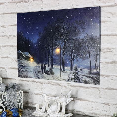 winter scene christmas canvas melody maison 174