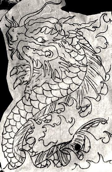 dragon tattoo tumblr koi outlinehelenasaurus