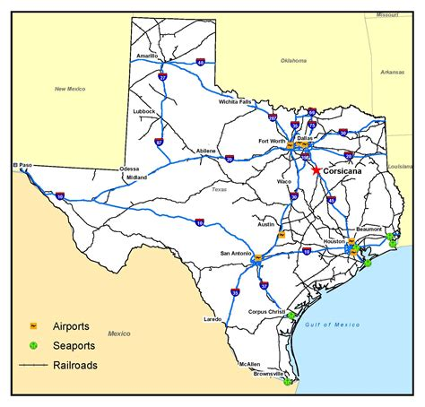 where is texas located on the map corsicana tx official website location