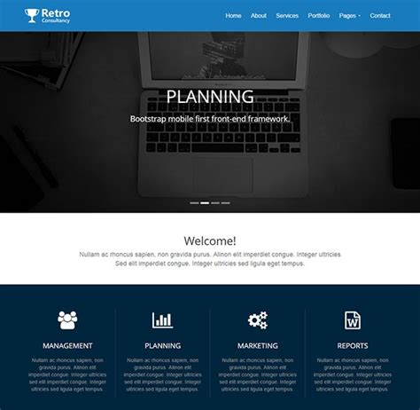 bootstrap templates for consulting 30 best free bootstrap html5 website templates