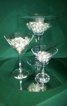 Wedding Favor Or Centerpiece Idea Boxed Martini Candles by Centerpieces On A Mirror Surrounding With Votive Candle