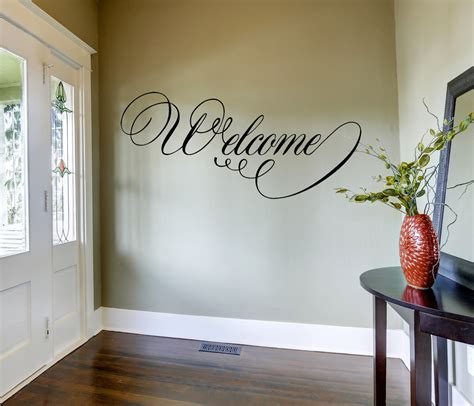 home decor wall decals welcome wall decal home decor home and living vinyl wall