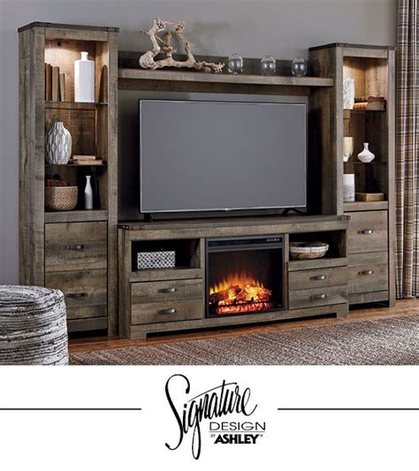 living room furniture with fireplace and tv arlene designs trinell entertainment wall fireplace insert option tv