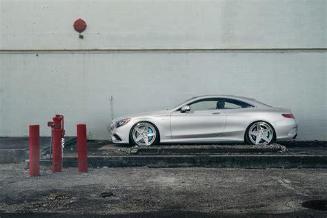 chrome benz silver mercedes benz s class coupe adv55s track spec cs