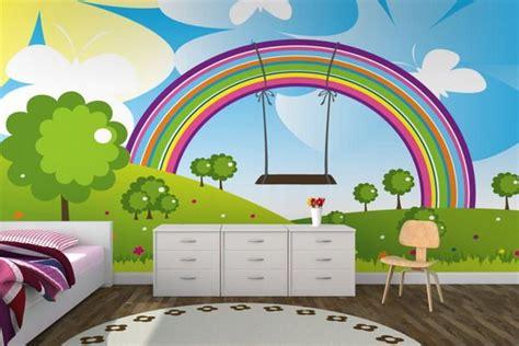 rainbow wallpaper for room modern bedroom with amazing rainbow wall murals room nursery wall murals bedroom