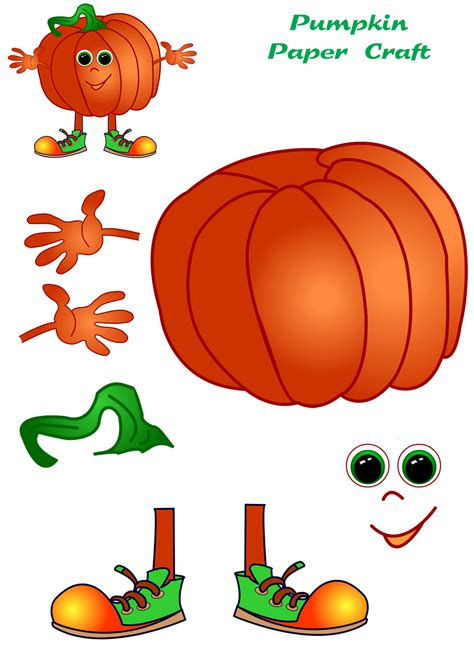 printable paper pumpkin pumpkin paper craft