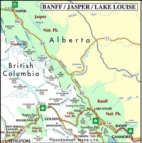 map of bc and alberta canada columbia maps
