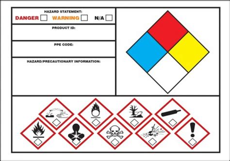 secondary container label template ghs nfpa secondary label lzn110