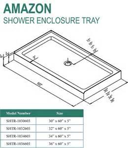 dreamline shower tray base various sizes shtr 113
