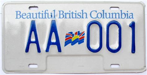 Gift Letter Icbc Columbia Passenger License Plates 1985 2001