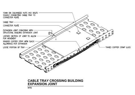 cable tray section detail typical detail for cable tray installation and support