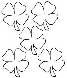 four leaf clover coloring pages free coloring pages of a 4 leaf clover