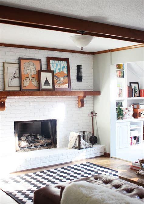 paint  brick fireplace    paint