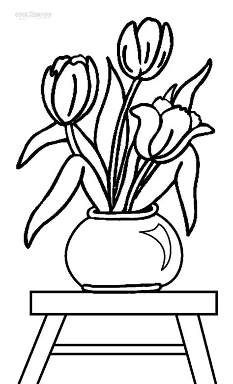 tulip coloring pages pin tulips coloring pages on