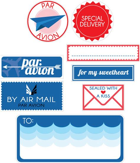 printable airmail stickers par avion goodies free printables chelsey barnes