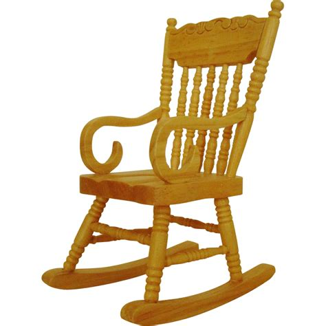 Doll Rocking Chair by Miniature Rocking Chair Dollhouse Wood Furniture Rocker