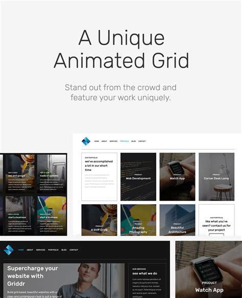 wordpress themes cartoon style griddr v1 0 1 animated grid creative wordpress theme