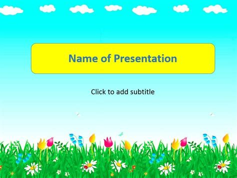 ppt templates free download child animated sun animated child s template for presentation