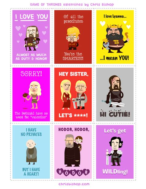 oitnb valentines of thrones s day cards collider