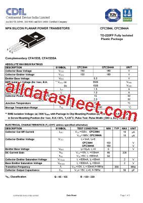 ztx650 transistor datasheet cfc3944q datasheet pdf continental device india limited