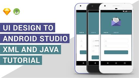 tutorial xml android login tabs ui design to android studio xml java tutorial