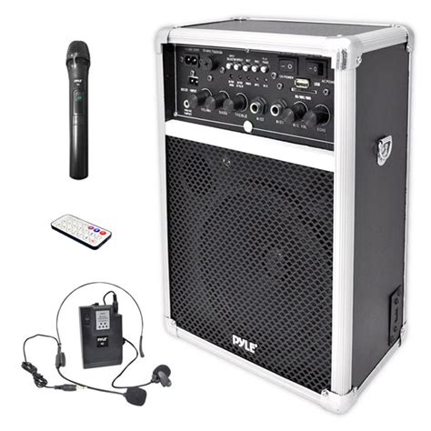 Speaker Portable Wireless La Bass Lb 8l 8 In 2 Mic Pegang Bluethoot pylepro pwma170 home and office pa loudspeakers cabinet speakers sound and recording