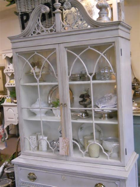 chalk painted china chalk paint 174 china hutch in paris grey cream old white