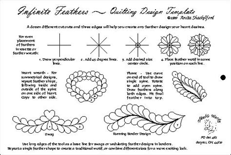 Feather Quilting Templates by Quilting Templates Feathers With Pdf Longarm Techniques