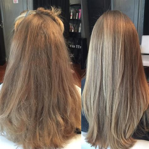 haircut before or after brazilian blowout before left and after right of the brazilian blowout