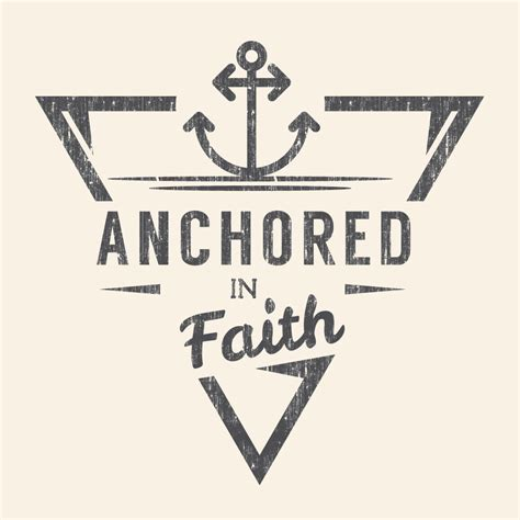 anchored in faith women s t shirt belief wear