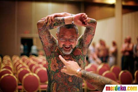 kontes tattoo di indonesia foto kontes manusia tato merdeka com