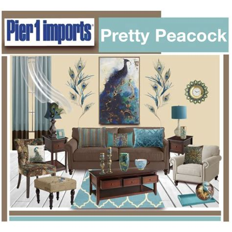 peacock inspired living room quot pier 1 imports pretty peacock quot by truthjc on polyvore