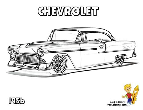 coloring pages classic art classic chevy car coloring pages chevy s 55 57