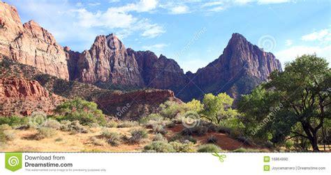Garden Ridge Mt Zion Mount Zion National Park Stock Photo Image 16864990