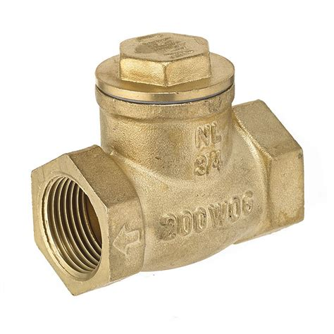 brass swing check valve 3 4 quot threaded brass swing check valve rona