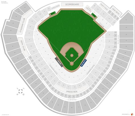 miller park seating map milwaukee brewers seating guide miller park