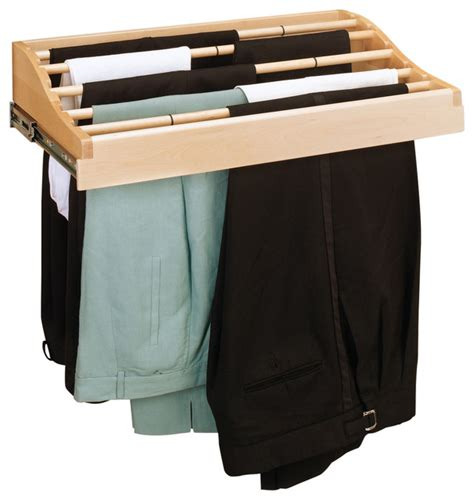 pull out can rack 24 quot wood pull out classic pant rack with slides trash cans by rev a shelf