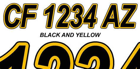 boat registration numbers where to buy black and yellow boat registration numbers or pwc decals