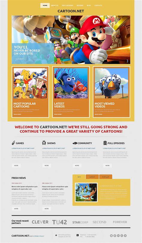 cartoon themes wordpress wordpress шаблон на тему tv канали templatemonster