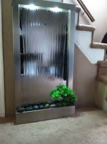 waterfalls decoration home modern home stainless steel wall waterfall w mirror indoor outdoor w4 home