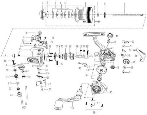 abu garcia reel parts diagram abu garcia s20 parts list and diagram ereplacementparts