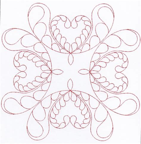 Quilting Designs For Embroidery Machine by Feather Quilting Designs Set 3