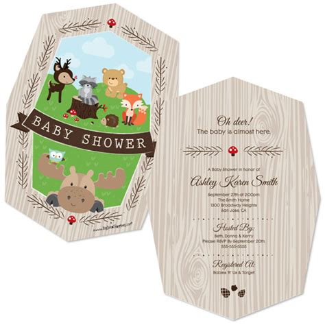 Woodland Creatures Baby Shower by Woodland Creatures Baby Shower Invitations Babyshowerstuff