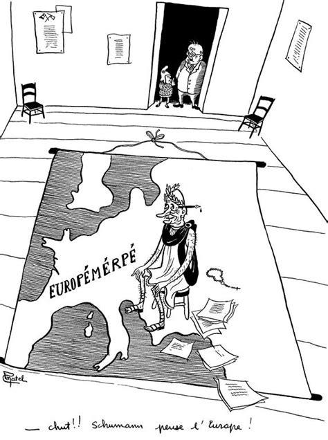 Cartoon by Pinatel on Robert Schuman and European