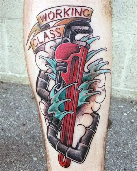 plumbing tattoos 30 plumbing tattoos for plumber design ideas