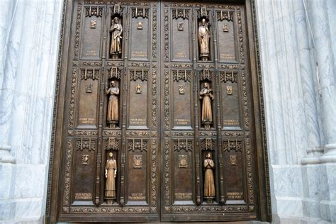 The Door Nyc by New York City Rockefeller Center 07a St Patricks Cathedral