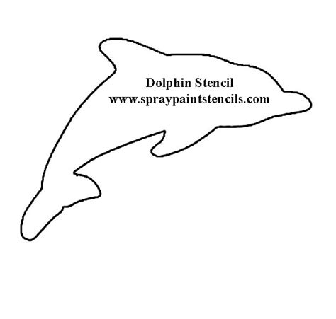 dolphin cut out template free stencils of animals
