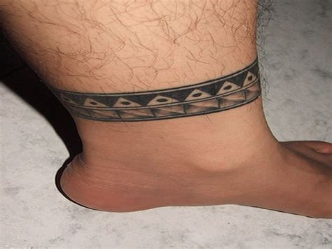 ankle band tattoos for men 35 tribal ankle band tattoos ideas