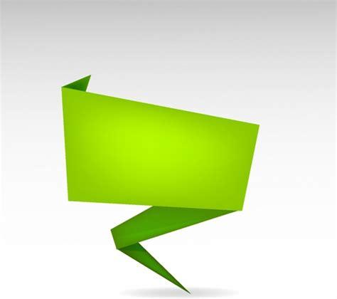 Origami Banner Vector - origami banner free vector in adobe illustrator ai ai