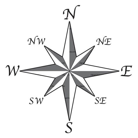 line drawing compass clipart best compass rose clipart best